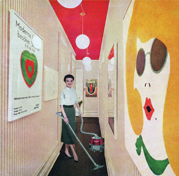 Vacuuming Pop Art, by Martha Rosler