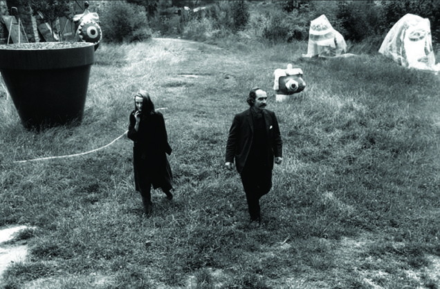 Niki de Saint Phalle and Jean Tinguely at La Commanderie, France