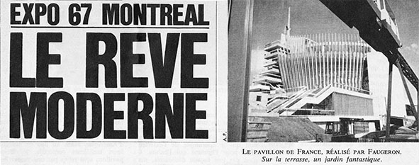Press Clip from L'EXPRESS about Montreal Expo67
