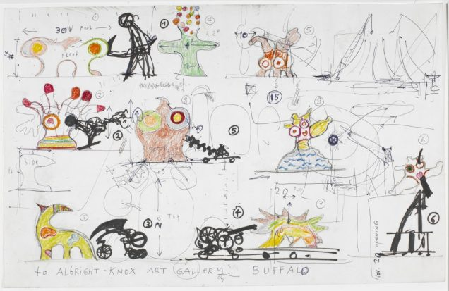 drawing for Le Paradis fantastique, 1967