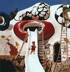 Child on slide of Dragon